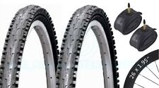 2 Bicycle Tyres Bike Tires - Mountain Bike - 26 x 1.95 VC-5030 - Presta Tubes