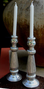 REDUCED Stunning Solid Metal Large Candlesticks BRAND NEW