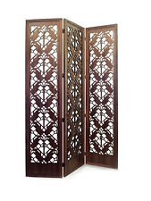 COONLEY Tulip FLOOR SCREEN Frank Lloyd Wright ROOM DIVIDER Etched Wood 52 x 74