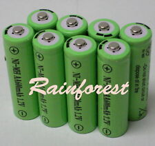 8 pcs AA Rechargeable Batteries Ni-MH 600mAh 1.2v for Garden Solar light