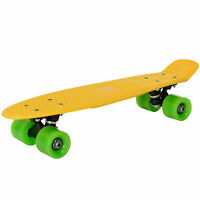 "[pro.tec] 22"" Retro Old School Skateboard Gelb Komplett Street Minicruiser Board"