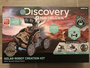 NEW Discovery Mindblown STEM 12-in-1 Solar Robot Creation Kit 12 Diff Robots!