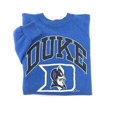 Vintage 90's Duke Blue Devils Crewneck Sweatshirt XL College Jumper Pullover USA