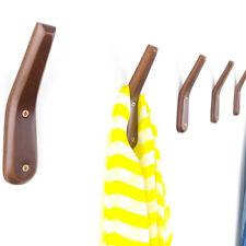 Rustic Wooden Kitchen Towel Coat Hat Holder Hook Rack Organizer Wall Mounted