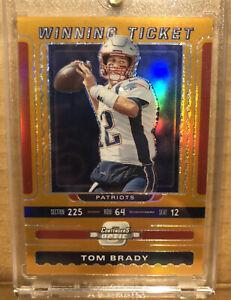 2019 Optic Tom Brady Winning Ticket /50 Orange Prizm Refractor Holo Silver SSP