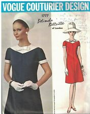 1777 Vintage Vogue Sewing Pattern Misses One Piece Dress Belinda Bellville OOP