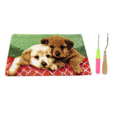 Puppies Latch Hook Rug Cushion Kits for Children Diy Latch Hooking Crafts