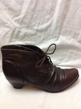 LADIES JOSEF SEIBEL BROWN LEATHER ANKLE BOOTS SIZE 7