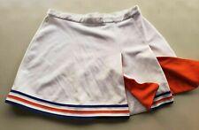 Real Authentic Plus XXL Dehen Cheerleading Uniform Cheer Skirt White Orange Blue