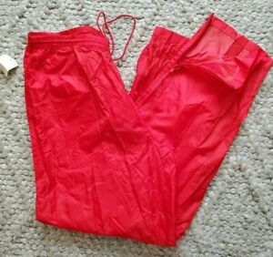 West Marine Packable Boating Fishing Red Rain Pants Sz L New NWT