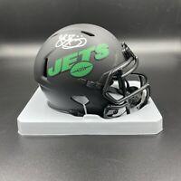 John Riggins Signed Autographed New York Jets Mini Helmet Beckett BAS NY