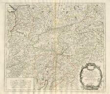"""le TIROLO Sous le Nom duquel..."" Tirolo Trentino. SANTINI/Vaugondy 1784 OLD MAP"