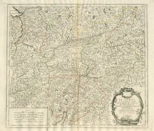 """Le Tyrol sous le nom duquel…"" Tirol Trentino. SANTINI/VAUGONDY 1784 old map"