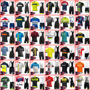 Men Summer Cycling Jersey Set Short Sleeve Bicycle Outfits Team Bike Sports Wear