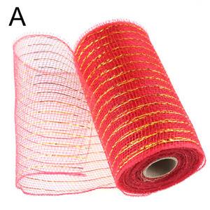 10Yard Mesh Ribbon Net Gauze Fabric Flower Wraping Decor Wreaths Making Crafts//
