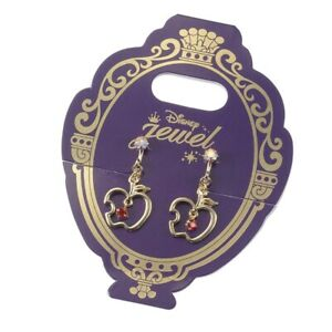 Disney Store Japan Princess Snow White Red Apple Gold Earrings Earclips Jewelry