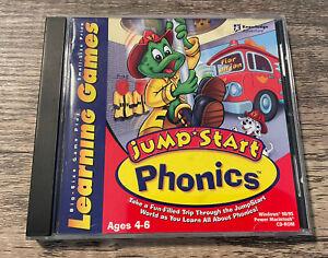 JumpStart Phonics- Ages 4-6 (PC/Apple Mac, 1999) Windows Computer Game