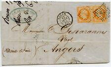 LETTRE ANCIENNE // ROUEN POUR ANGERS 1855