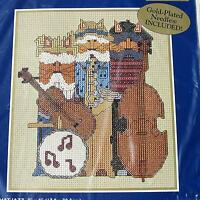 Cat Musicians Counted Cross Stitch Kit Bucilla 42664 ALL THAT JAZZ Kittens 2000