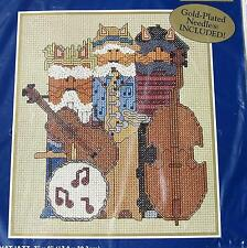 Cat Musicians Counted Cross Stitch Kit  42664 ALL THAT JAZZ Kittens 2000 Bucilla