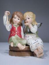+# A008338 Goebel Archiv Muster 2 Zwei Engel mit Kristall als Herz Randfigur