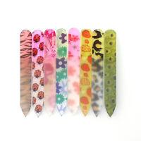6PCS/Set Cute Mini Crystal Glass Nail Art File Manicure Tools Random Color