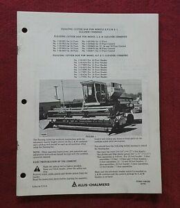 "1975 ALLIS CHALMERS GLEANER K F G M L COMBINE ""CUTTER BARS"" OPERATORS MANUAL"