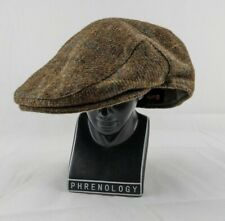 Barbour crieff Check Dark Olive Mens Flat Cap Hat 100% Wool Size 7