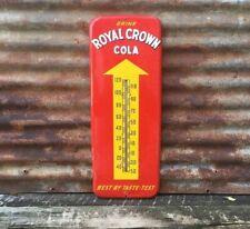 "Original 1951 RC ROYAL CROWN COLA DONASCO 25"" THERMOMETER SIGN"