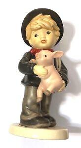 Porzellanfigur Goebel Schornsteinfeger Schweinchen limitiert 19,8 cm Swarovski
