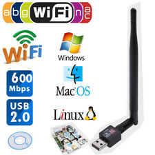 600Mbps Mini USB WiFi Router Wireless Adapter Network LAN Card w/ 5dBI Antenna