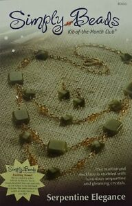 Serpentine Elegance Simply Beads Kit of the Month Green Crystal Necklace & Earri