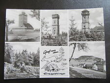 AK Gruß aus dem Erzgebirge-Pöhlberg-Wetterwarte Fichtelberg-Scheibenberg -1965