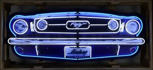 FORD MUSTANG GRILL - NEON SIGN IN A CAN - FORD - NEW - NEON SIGN - CAR