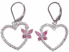 Leverback Drop/Dangle Natural Ruby Fine Earrings