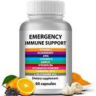 Immune System Booster Support Vitamin C Elderberry Zinc Garlic Echinacea New