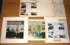 BLUES BREAKERS ERIC CLAPTON AUTHENTIC PRINTER'S ORIGINAL PRODUCTION ARTWORKS