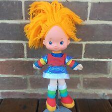 "Vintage Rainbow Brite 12"" Plush Doll 1983 Hallmark Cards Mattel Original Dress"