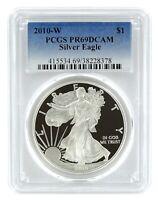 2010 W 1oz Silver Eagle Proof PCGS PR69 DCAM - Blue Label