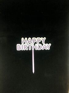 1pc DIY Cute Happy Birthday Cake Topper Party Decoration Supplies