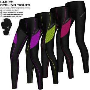 Ladies Cycling Tights Padded Compression Thermal Leggings Cycle Tights Trousers