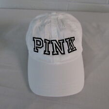 """Victoria's Secret """"PINK"""" Embroidered Hat Cap Adjustable White/Black NWOT"""