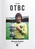 Norwich v Manchester Utd 19/20 Premier League Programme Duncan Forbes Issue