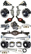 "NEW 2"" DROP SUSPENSION & 13"" WILWOOD BRAKE SET,CURRIE REAR END,ARMS,POSI,657051"