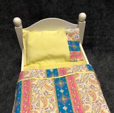 3pc.Bedding Linen//Sheet set for dolls FITS American Girl MuslinNatural Color Rib