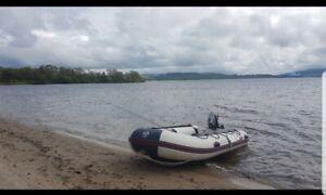 Yamaha 400 Inflatable boat dinghy SIB not RIB and 6hp mariner outboard