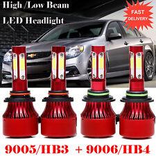 9005+9006 Led Headlights Hi/Lo Beam Bulbs for Chevrolet Tahoe Colorado Silverado