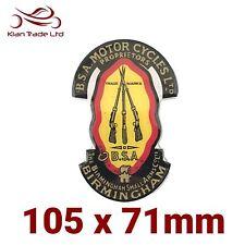 1x Birmingham Small Arms Co.Motor Bike Sticker, Gel, B.S.A, Gun, Emblem, sticker
