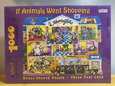 Spilsbury Puzzle Co., If Animals Went Shopping, Terry Sirrell. 1000 Pc Jigsaw.