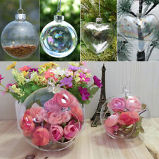 Iridescent Clear Round Glass Christmas Tree Baubles Spheres Ornaments Decoration